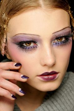flapper  #style #makeup #lips #eyes #hair #nails