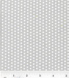 Nursery Fabric- Grey White Mini Dot : fabric :  Shop | Joann.com