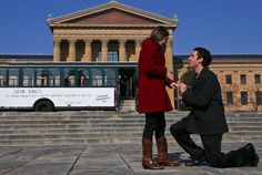 The Philadelphia Museum of Art  Jeremy Kaplan's With Love Valentine's Day Proposal to Emily Schrag. Congratulations!