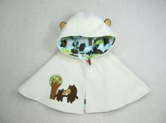 Bear Capelet  last one by violastudio on Etsy,