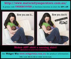 Undercover Mama Breast Feeding Singlet