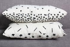 #DIY Pillow with potato #stamp making!