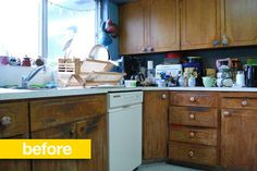 Kitchen Before & After: An Old Kitchen Gets Some English Flavor Professional Kitchen Remodel