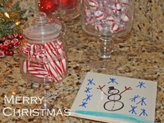 Have children decorate tiles for the grands to use as hot plates for homemade christmas gifts :)