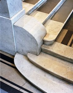 Stair detail from the Post Office Savings Bank Building in Vienna, designed by Otto Wagner.