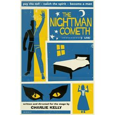 The Nightman Cometh. Awesome poster inspired by It's Always Sunny In Philadelphia.