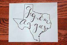 Gig 'em, Aggies photo print for your home!