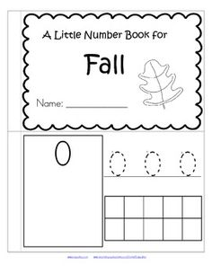 FREE This is a booklet to review and practice counting and number recognition 0-10. It has a Fall theme. Children can recognize the numerals, count the sets, trace the numbers, and fill in the 10-frames by stamping or coloring.
