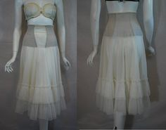 1950s Munsingwear White Petticoat half slip 26
