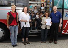 Bookmobile, District of Celle, Lower Saxony, Germany.