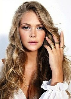Blonde Blond Brown Hair Highlight Lowlight Long Wavy Hair. Love the coloring.