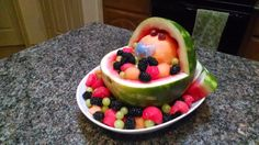 Fruit tray for a baby shower