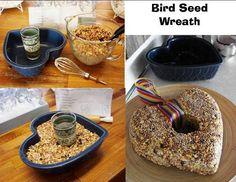 Make a fun molded bird seed wreath Jeanne Sammons has a heart for her birds