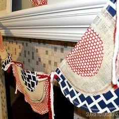 4th of July Bunting Banner Tutorial {DIY Decor}