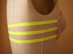DIY neon elastic bra for summer shirts... wonder if this will really work for me???hope so!
