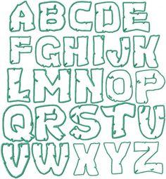 Teenage Mutant Ninja Turtles Embroidery Font by HerringtonDesign, $1.50