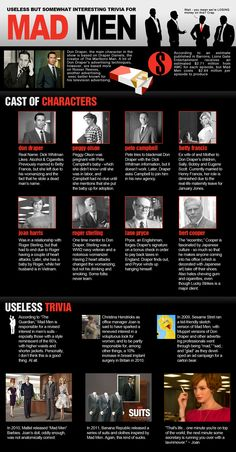 A fun infographic for Mad Men