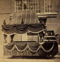 Abraham Lincoln's Funeral Hearse. Used at President Lincoln's funeral in 1865