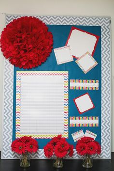 Dress up your classroom with bright colors and whimsical designs with the new Chevron Collection!