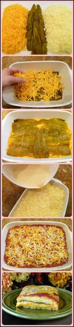 Chile Rellenos Casserole - so much simpler than making them individually - why didn't I think of this?
