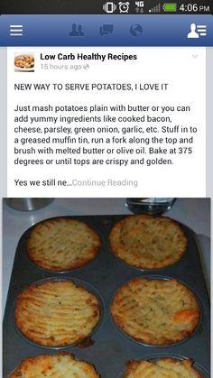 Low carb healthy recipes diet, potato