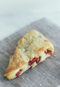 strawberry cream scones by @Sarah Chintomby Kieffer | Vanilla Bean