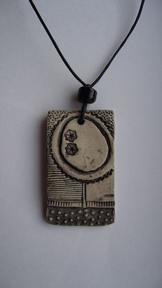 clay necklace - nice print