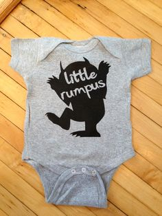 Cute Where The Wild Things Are Little Rumpus Baby Body Suit One Piece Creeper- Pick Your Color. Pick Your Size. Onesie.
