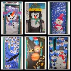 Winter Themed Door Decorations! via RainbowsWithinReach