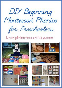 Montessori Monday – DIY Beginning Montessori Phonics for Preschoolers