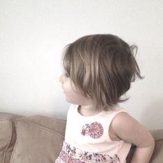 A faded bob cut for a little girls