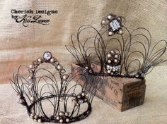 Wire crowns by Kris Lanae