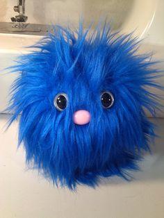 Furry Monster Plush - 4 Blue Coodle. $10.00, via Etsy.
