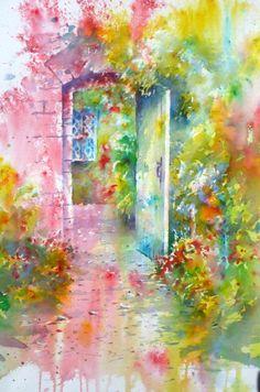 More Brusho magic from Joanne Boon Thomas. Secret Garden, Brusho  www.brushosecrets.com