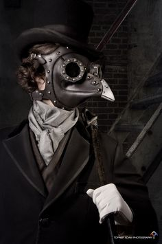 Steampunk Plague Doctor Mask by TomBanwell on etsy