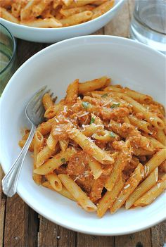 Penne with Trapanese Pesto / Bev Cooks