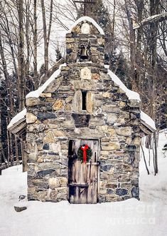 Stone Chapel In The Woods, Vermont