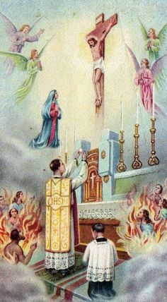 """Our Lord told St. Gertrude that this prayer releases 1,000 Souls from Purgatory each time it is offered.------>   """"Eternal Father, I offer Thee the Most Precious Blood of Thy Divine Son, Jesus, in union with all the Masses said throughout the world today, for all the holy souls in Purgatory, for sinners everywhere, for sinners in the universal church, those in my own home and within my family.  Amen."""""""