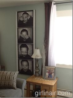 How to make a giant photo strip canvas, for about 8 bucks - would love to try this.