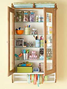 Cute craft storage. #organize