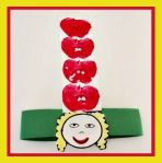 Dr Seuss Apples Up On Top Headband Craft For Kids! (Nothing better than seeing a group of Kindergarteners wearing hats like this!)