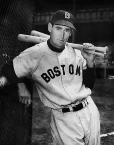 Ted Williams: American baseball player Ted Williams of the Boston Red Sox, circa 1950. (Photo by FPG/Hulton Archive/Getty Images) #RedSox #baseball #Boston