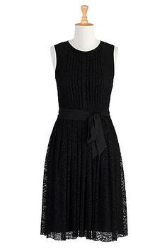 Sash tied lace dress