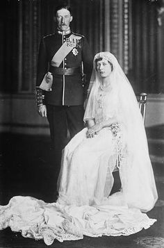 Princess Mary (daughter of King George V & Queen Mary) and Henry Lascelles, 6th Earl of Harewood married 28 February 1922 at Westminster Abbey