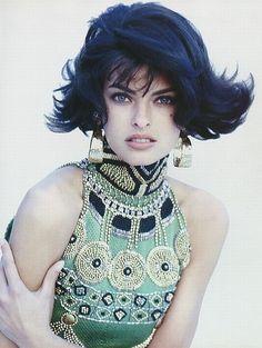 Vintage Versace. Linda Evangelista.