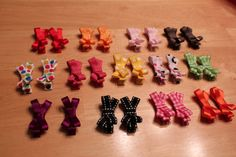 How to make bitty baby bows. Updated: I use 2 5-inch pieces of 3/8-inch ribbon for the bow part and liked that better. I think it depends on the size of the clip.