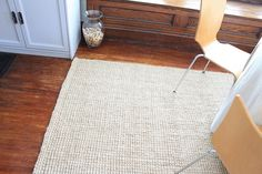 Jute Boucle Rug by West Elm in flax