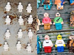 Salt dough in mini-fig mould. Fun craft, not just for kids (I want to do this!)
