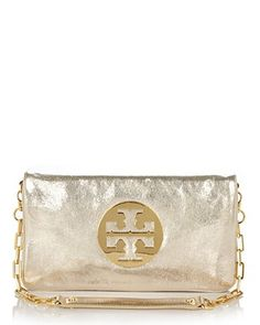 Tory Burch Reva Leather Clutch | Bloomingdale's