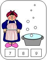 """bubble count cards for Mrs. Wishy Washy, this site also has a """"Roll a Mrs. Wishy Washy"""" game but it won't let me """"pin"""" it..."""